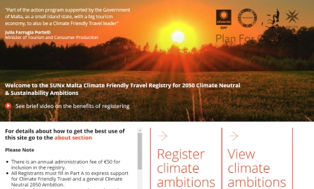 SUNx Malta Launches Climate Friendly Travel Registry