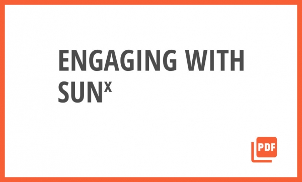 Engaging with SUNx