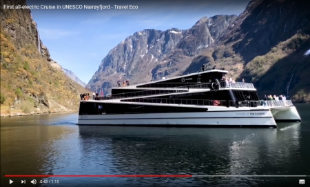 First All-Electric Cruise in UNESCO Nærøyfjord