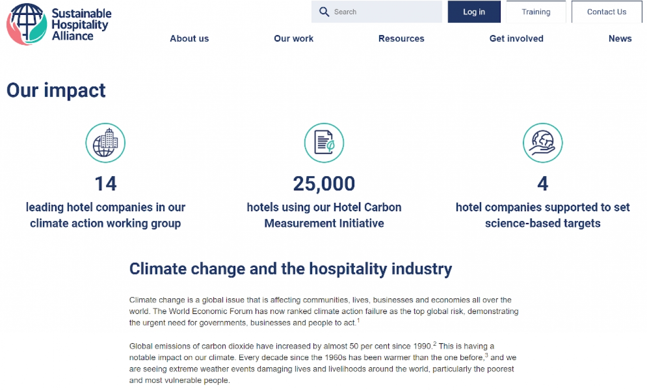 Climate Change and the Hospitality Industry