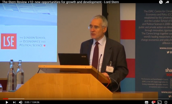 The Stern Review +10: New Opportunities For Growth & Development