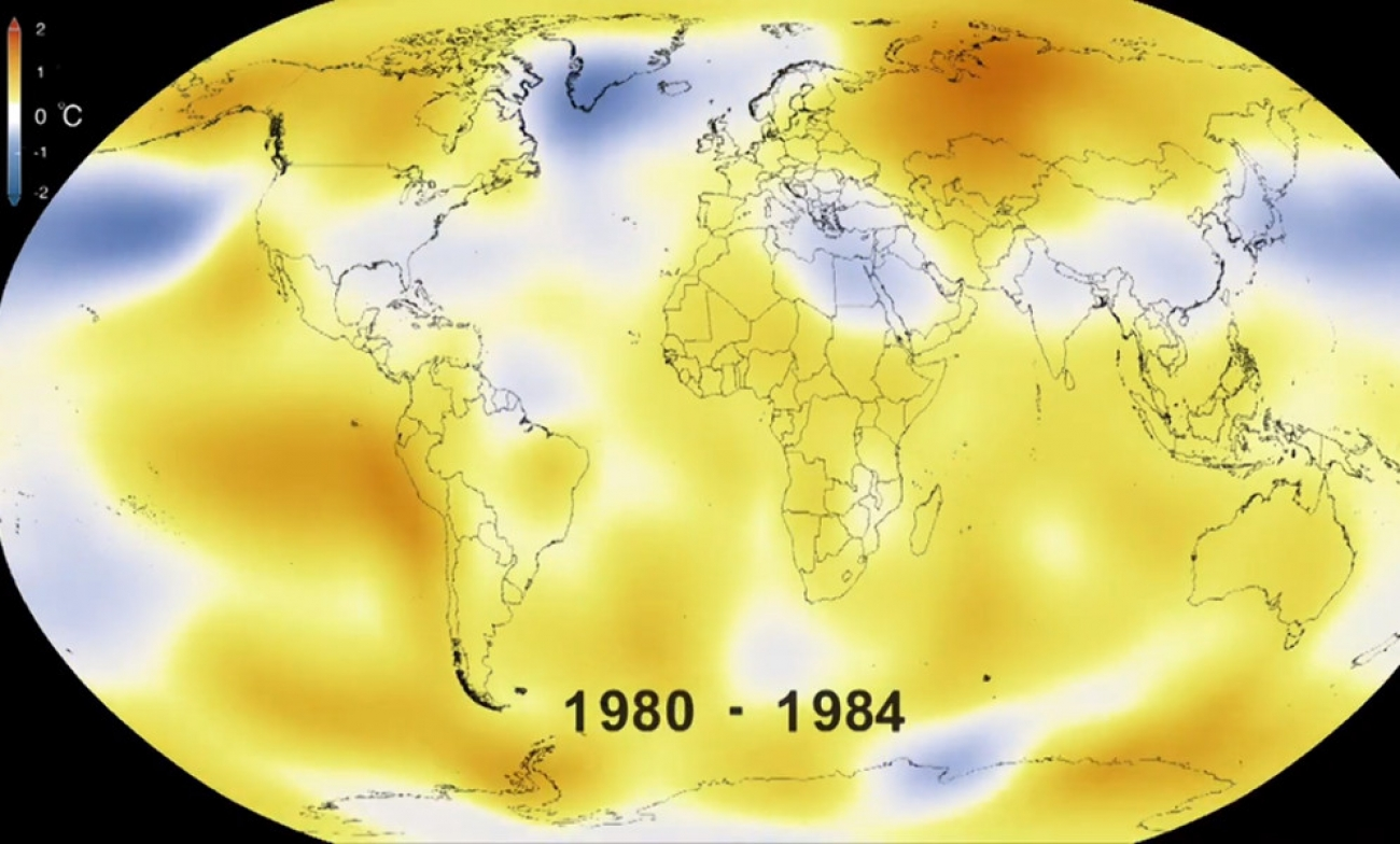 Watch Global Temperatures Change From 1880 to 2015