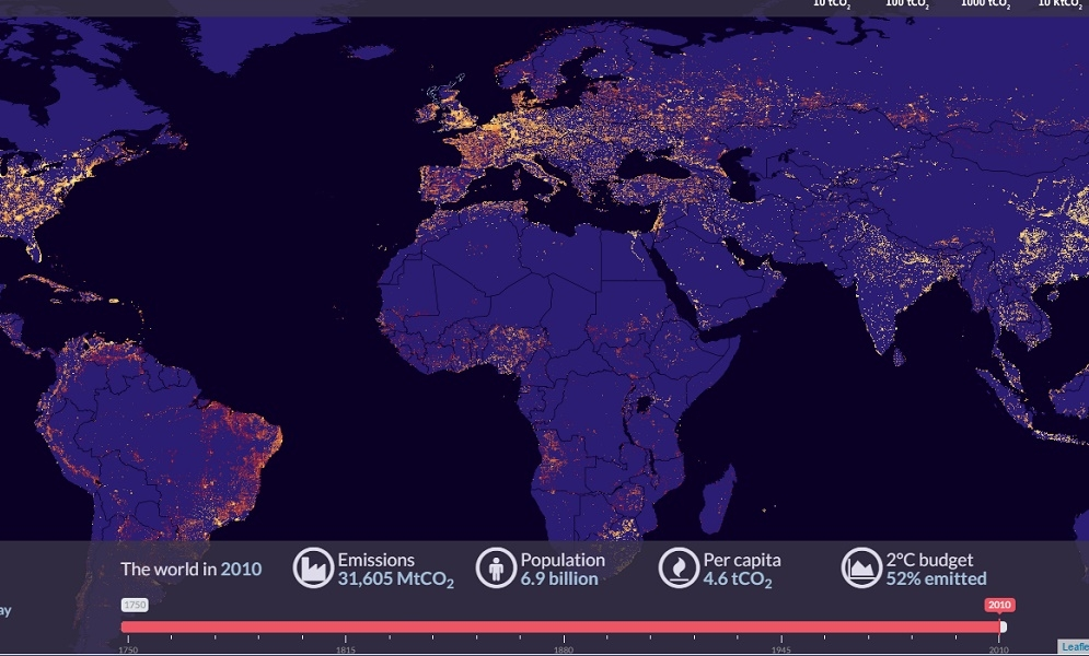 Global Historical CO2 Emissions Interactive Map
