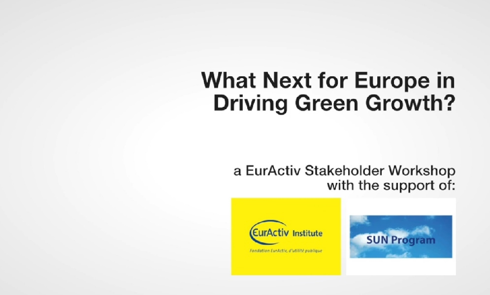 Euractive Workshop on Green Growth and the SUN Program