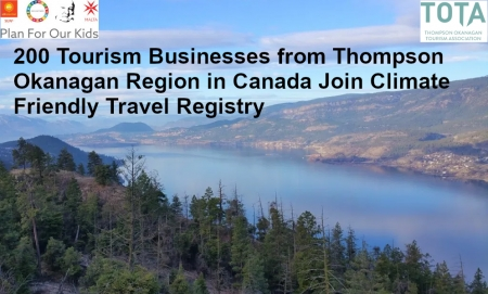 Climate Friendly Travel Registry gains 200 Tourism Business Commitments from Thompson Okanagan Region in Canada