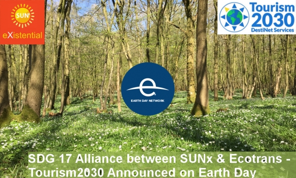 SDG 17 Alliance Between SUNx & Ecotrans - Tourism2030 Announced on Earth Day