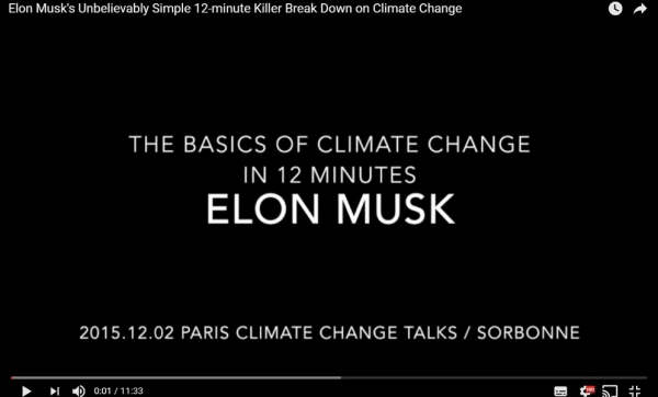Elon Musk on Climate Change